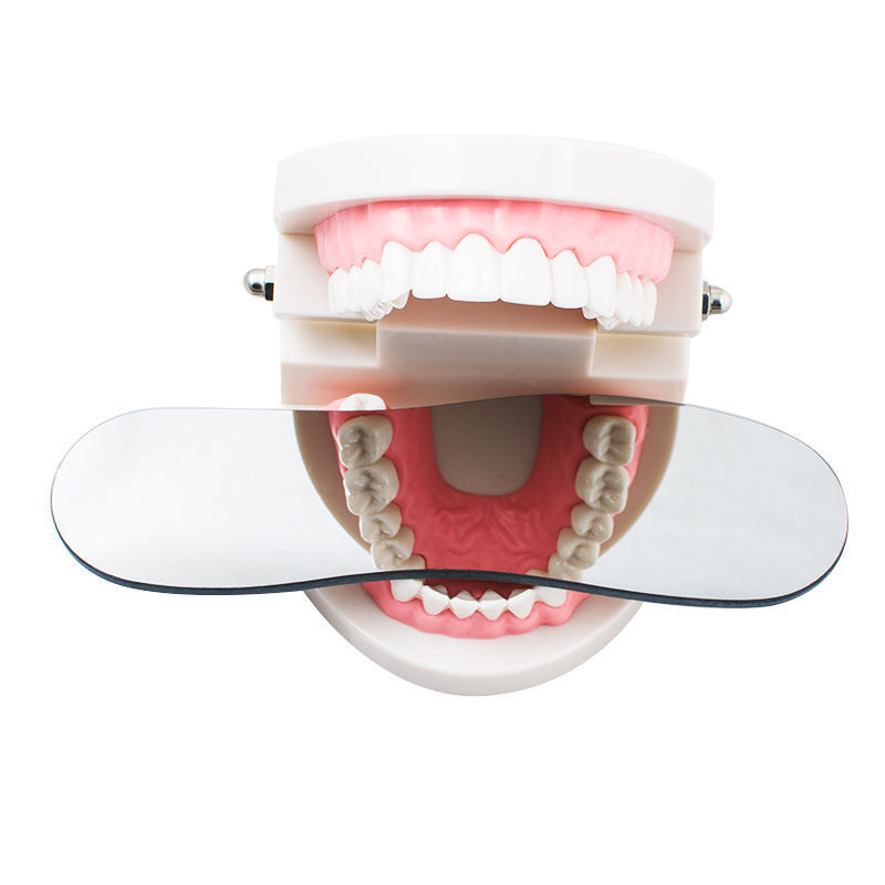 Miroir en verre photographique dentaire orthodontique intra-buccal dentaire rhodium occlusal