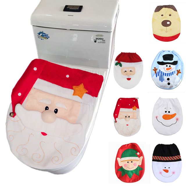 Christmas Decorations for Home Santa Claus Toilet Lid Cover New Year xmas decoration Christmas Ornament Navidad 2019 Gifts