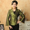 Discount Army Green Lady Satin Overcoat Classic Flare Sleeve Single Button Jacket Solid Color Free Shipping Size S To XXXL T032