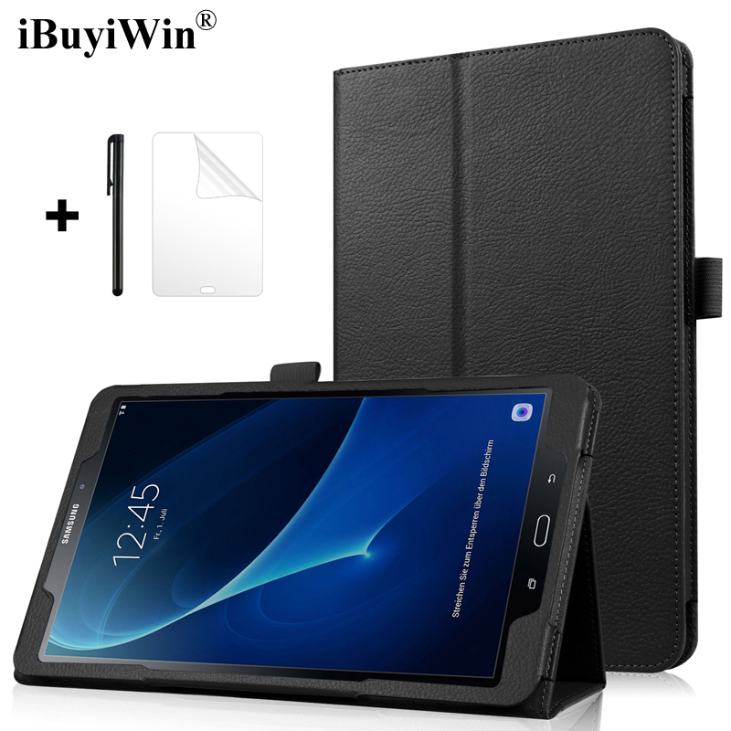 Slim magnético caso cubierta inteligente soporte de la PU Funda de cuero para Samsung Galaxy Tab A A6 10,1 2016 T580 T585 SM-T580 SM-T585 Funda casos