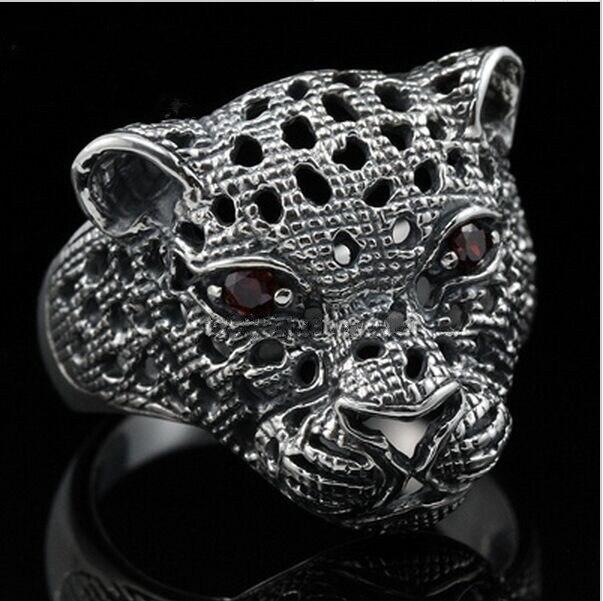 BOCAI bague argent pur 925 jaguar jagless bague tête léopard homme bague femme