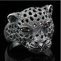 BOCAI  pure silver 925 ring jaguar jagless ring leopard head male women's ring