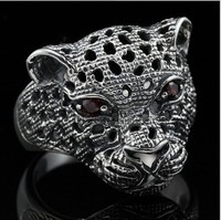 Bocai خاتم الفضة النقية 925 حلقة جاكوار jagless الفهد رئيس الذكور المرأة خاتم