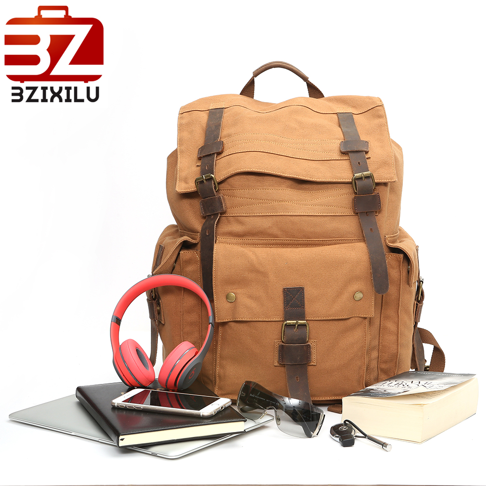 Vintage Fashion Backpack Leather cotton Canvas Men travel bags women school shoulder backpack weekend bag Black Casual bagpack vitaly mushkin le sexe du président esclave érotique