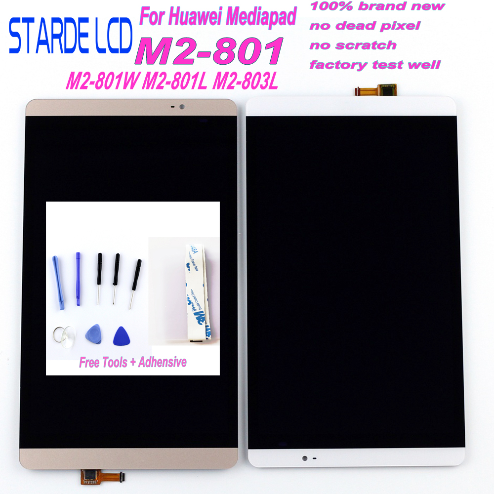 Starde LCD 8.0 For Huawei Mediapad M2 LCD M2-801L LCD Display M2-801 M2-801W M2-803L Matrix Screen Touch Screen Sensor Replace