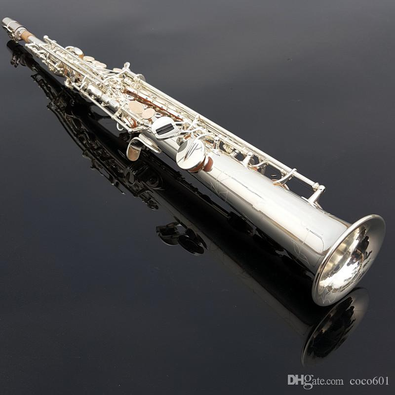New Arrival Japan Soprano Saxophone High Quality Yanagisawa S-992 Straight B flat Sax With Case Soprano Saxophone Free shipping new japan yanagisawa s901 b flat soprano saxophone high quality musical instruments yanagisawa soprano professional shipping