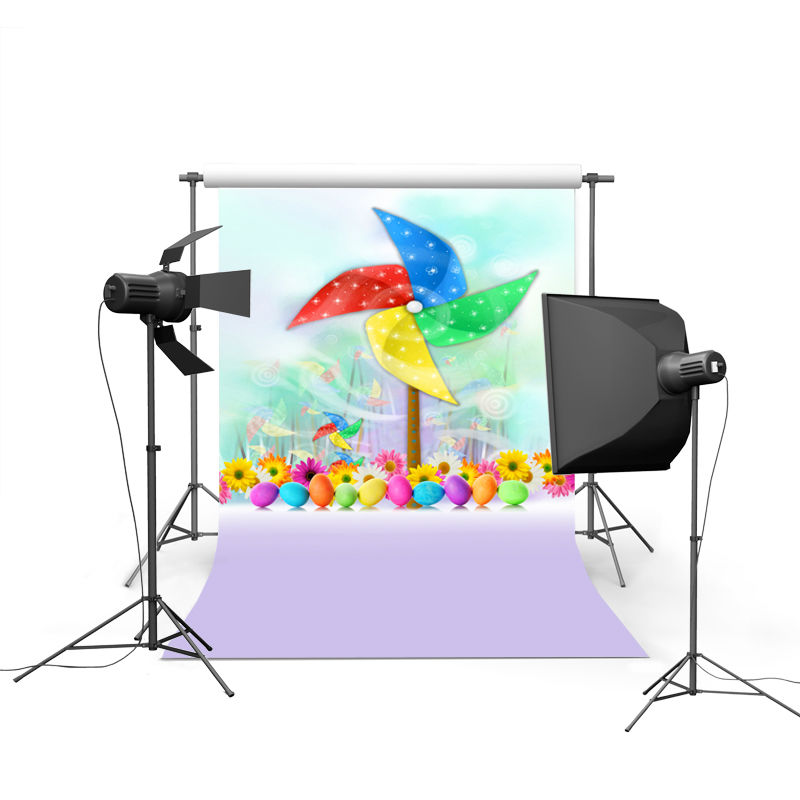 2017 new spring easter photography backdrops eggs chiken new born baby children photographic background Easter Day P0363