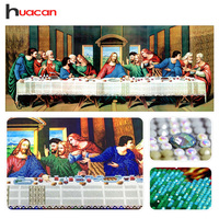 Huacan Special Shaped Diamond Embroidery Painting Last Supper Religious 5D Diamond Mosaic Cross Stitch Holiday Gift