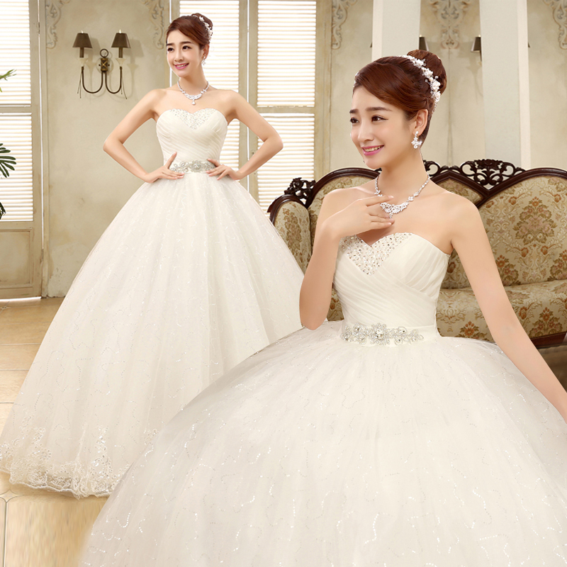 Fansmile Cheap Vintage Lace Bridal Wedding Dresses 2019 Customized Plus Size Princess Ball Gown Wedding Dress Under $50 FSM-175F