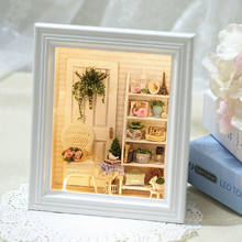 Diy Doll House Creative Photo Frame Wall Wooden Dollhouses Furniture Miniature Dollhouse 3D PuzzlesToys Birthday Gifts(China)