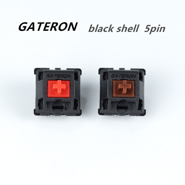 30pcs Gateron MX Switches 5Pin Brown/Red Switches Replaceable Cherry MX Switches For Mechanical keyboard
