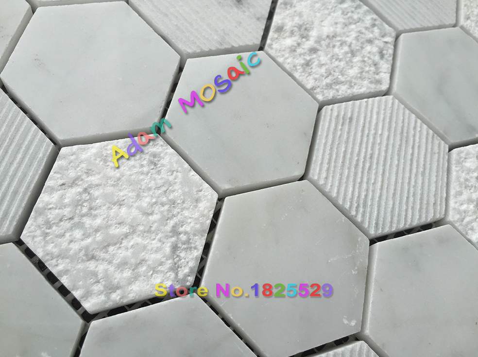 Hexagon Tegels Wit : Hexagon wit mozaïektegels decoratieve muur steen marmeren tegel