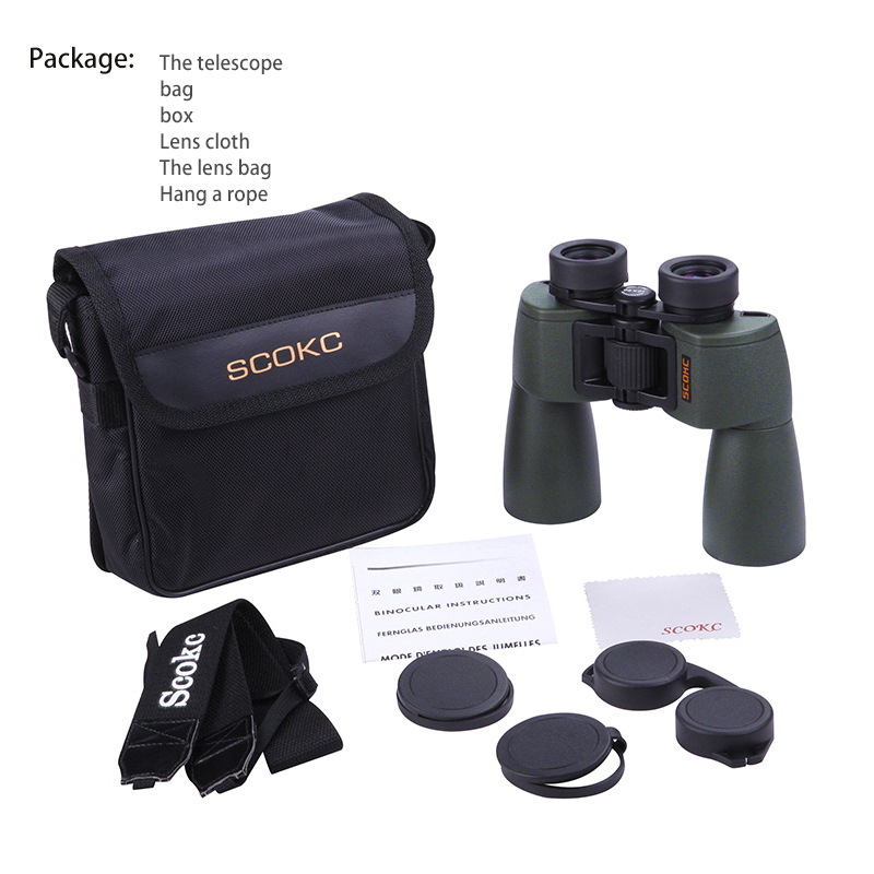 SCOKC Gran Angular Potente hd 10x50 binoculares bak4 FMC power zoom - Camping y senderismo - foto 5