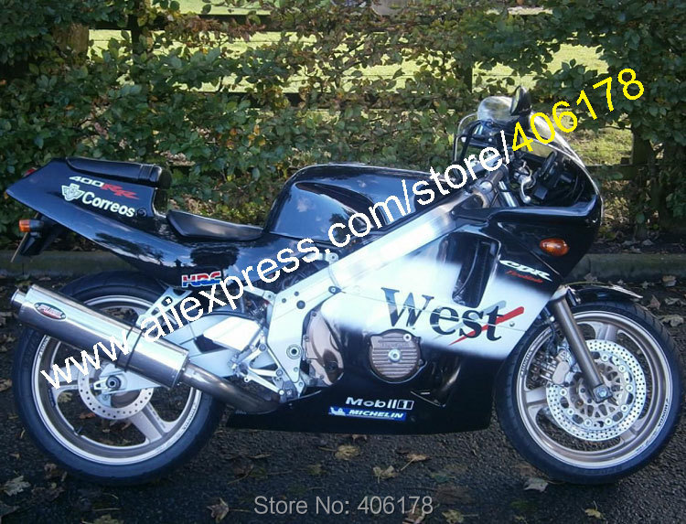 Hot Sales,For Honda Parts CBR400RR NC23 87 88 89 CBR 400RR CBR 400 RR 1987 1988 1989 NC 23 West ABS Motorcycle Fairing Kit