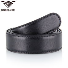 Brandnew Classic Genuine Leather Belt No Buckle For Men 3.5cm Wide Belts Without Automatic buckles Quality Guarantee 30days use цена в Москве и Питере