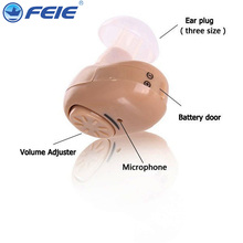 Hearing aid Sound Amplifier Deaf Headset Invisible Mini Machine S-215 Earphone Ear care Device free Drop Shipping