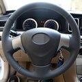 GNUPME искусственная кожа ручной работы черный чехол рулевого колеса автомобиля для Toyota Corolla 2006-2010 Matrix 2009 Auris 2007-2009