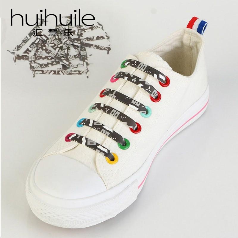 Posebna oblikovalska modna nova barvita silikonska gumijasta vezalka - Pribor za čevlje