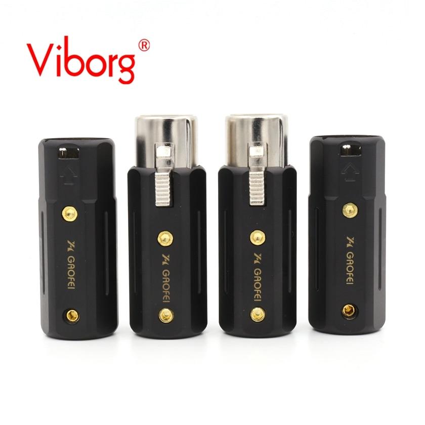 bilder für Kostenloser versand 4x Gaofei RHO01XLR messing Rhodiniert Xlr-stecker für audio interconect kabel