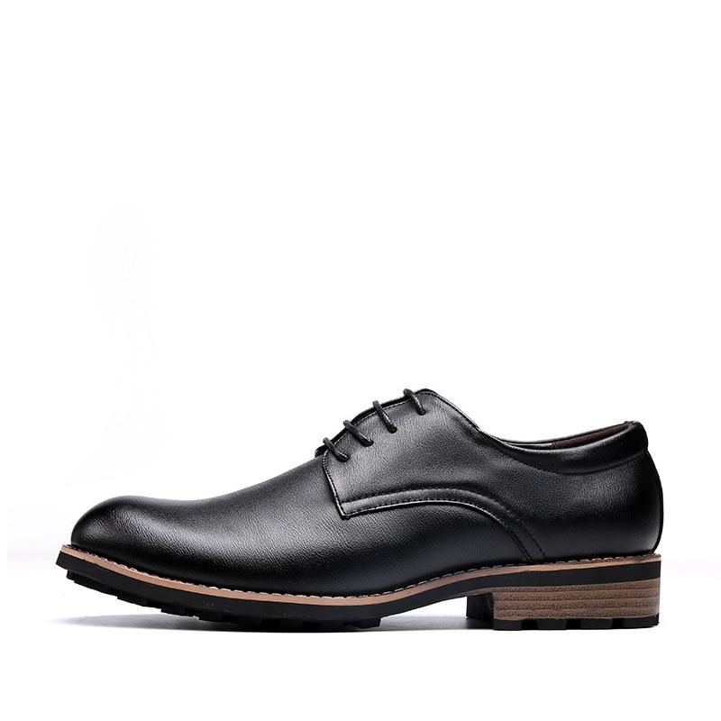 Britannique Casual kaki Robe Bout Aa20447 Noir Pointu De Luxe Hommes 2018 Mode Style Chaussures Oxford En Cuir Appartements Pour YqvUxw8F1