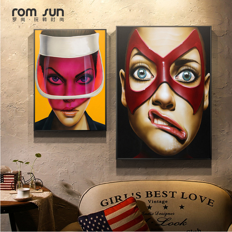 Sex Women Exaggerated Expression Canvas Painting Wall Art Pictures For Living Room Modern HD Home Decoration Posters And Prints