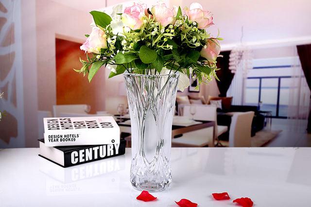 Online Shop Little Cabbage Transparent Glass Vase Fuguizhu