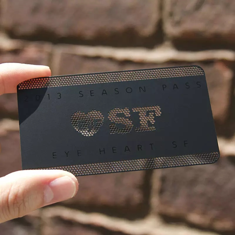 Black Color Metal Plate Etching Metal Stainless Steel Business Card With Matte Effect