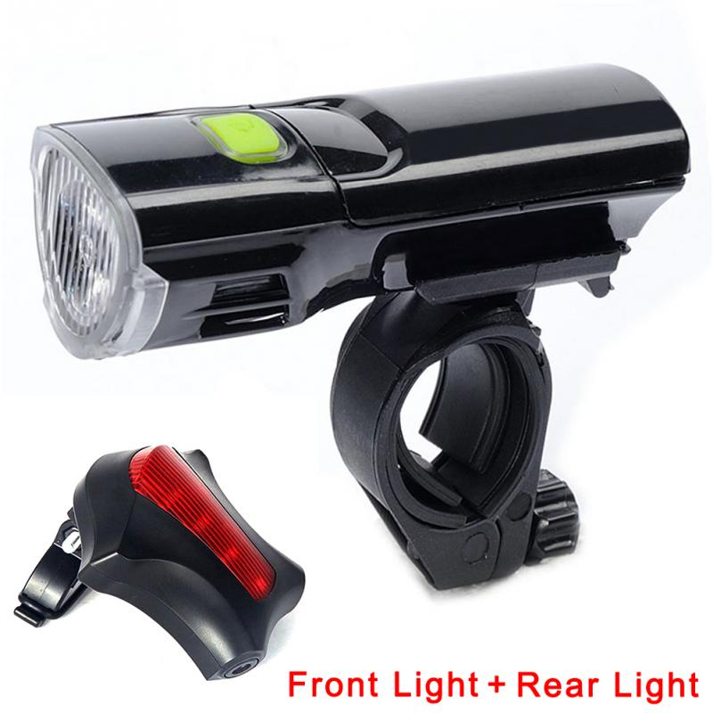 MTB Mountain Bike Lights Outdoor Riding Front Light Tail Lamp Bicycle Headlight Waterpoof Bicycle Front & Rear Light Set