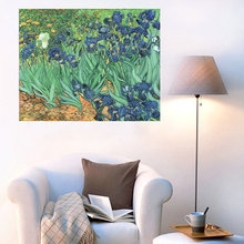 Reproduction High Quality Irises Flowers Oil Painting Vincent Van Gogh For Home Decoration