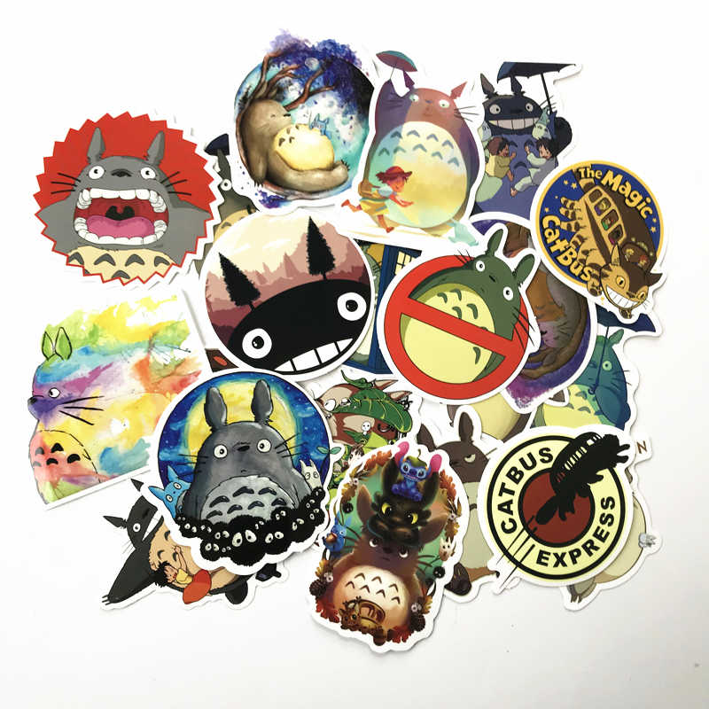 20 Pcs/lot Japanese Movie My Neighbor Totoro Cute Stickers For Car Laptop Phone Bicycle Luggage Decal Toy vinly decal Sticker