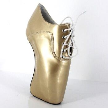 Round Toe Female Shoes Bota Feminina Gold Botas Feminina Boots Ankle High Heel Unisex Ladies Boots Sexy Fetish Shoes Boots Women