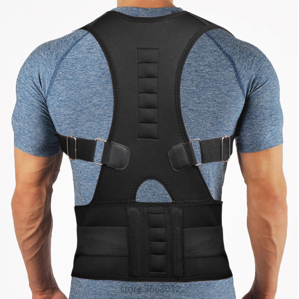 US $11 54 45% OFF|Male Female Adjustable Belt Medical Therapy Magnetic Back  Posture Corrector Support Belt Brace Lower Back Pain Treatment Corsets-in