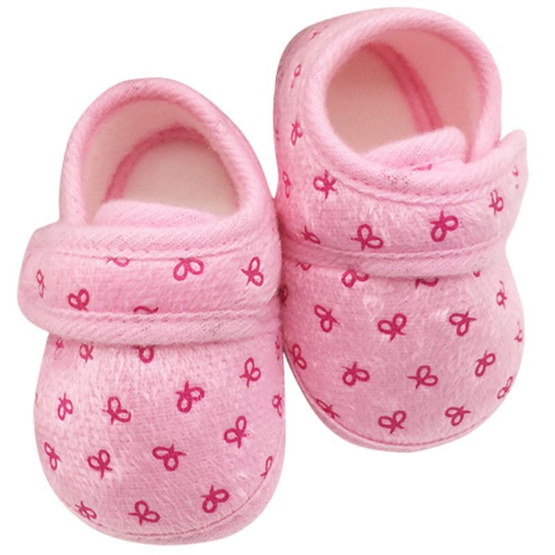 Cute Newborn Infants Kids Baby Shoes Boys Girls Cozy Cotton Soft Soled Crib Shoes First Walkers LY8
