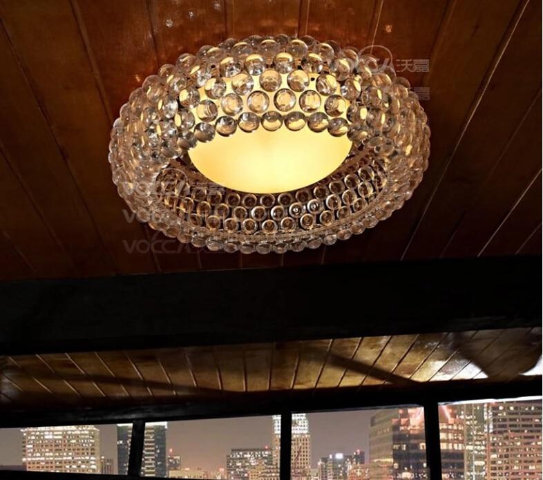 Moderna sala de estar acrílico RS7 bombilla lámparas colgantes comedor Foscarini Caboche Dia35/50/65 CM claro lámpara colgante dorada - 3