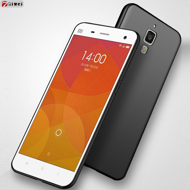 brand new 0ab76 4724f For Coque Xiaomi mi 4 Case Full Protection Frosted Matte Soft TPU Back  Cover For Xiaomi Mi 4 Mi4W Silicone Case Mi4 Mi 4W Capas