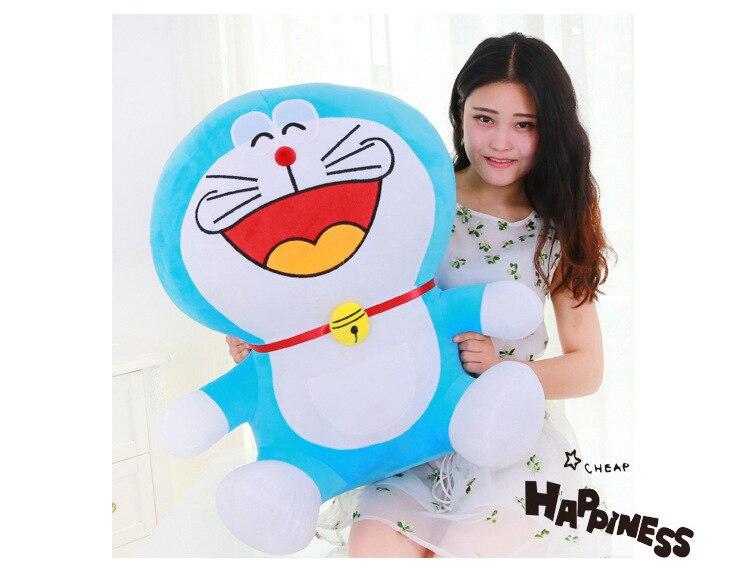 цена huge lovely plush new blue doraemon toy stuffed big laughing doraemon doll gift about 70cm 0037 онлайн в 2017 году