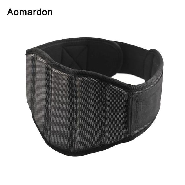 Aomardon Men Nylon Weightlifting Belt Gym Fitness Crossfit Weight Lifting Back Support Breathable Power Training Belt Equipment