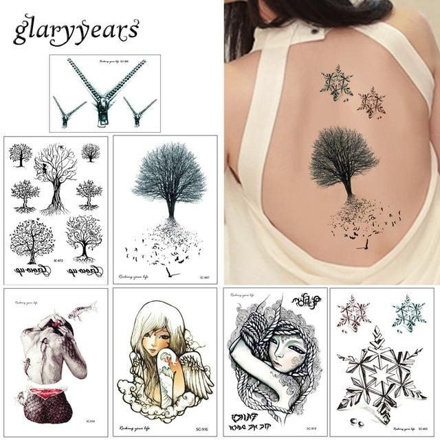 Glaryyears 20 Designs 1 Sheet Diy Body Sc Tattoo Sticker Colored