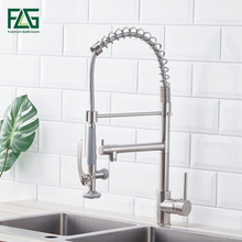 Kitchen Faucet Brushed Nickel Faucet for Kitchen With Pull Down Kitchen Mixer Pull Out 360 Swivel Single Lever Kitchen Tap