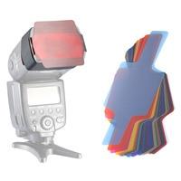 Neewer 20PC FLash Speedlite Color Gels Universal Lighting Filter Kit Strobist Flash E TTL I TTL