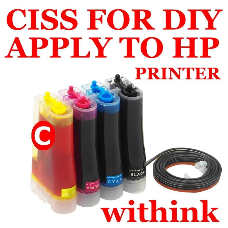 CISS ink tank kits apply to MP280 MP259 MP240 ip2500 ip2600 ip1900 ip1800 MP190 inkjet printer  withink ciss