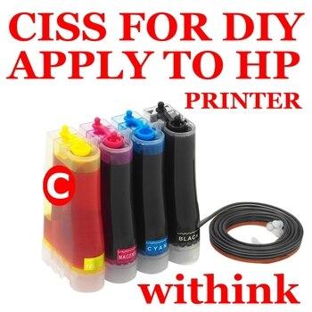 Система непрерывной подачи чернил с чернила для печати бутылки с яркими цветами и неблокирующий головы.