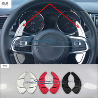 2pcs/lot For Volkswagen VW golf 7 golf7 GTI Scirocco 2015 2017 Aluminum alloy Steering Wheel Shift Paddle Shifter Extension