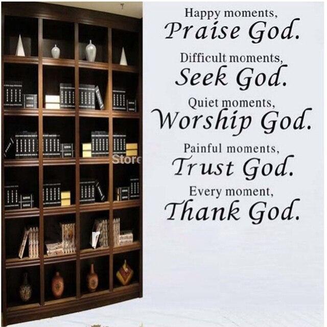 Fabuleux Bible verset chaque moment remercier dieu Mur citation autocollant  II94