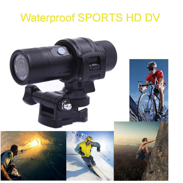 Waterproof Mini HD Bike Motorcycle Helmet Sports Camera Video DVR DV Camcorder