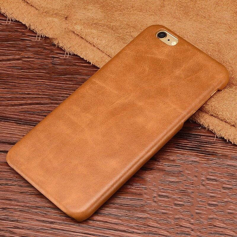 Цена за Для iPhone 6 S чехол Натуральная кожа обложка чехол винтажные кожаные PC чехол для iPhone 6 S плюс moblie телефон сумка Coque Капа