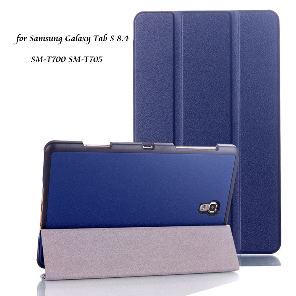 Case for Samsung Galaxy Tab S 8.4 Ultra-thin PU Leather Auto-sleep Magnet Cover for Samsung Tab S 8.4 SM-T700 T705+Stylus Pen кен фоллетт молот эдема isbn 978 5 17 103835 9