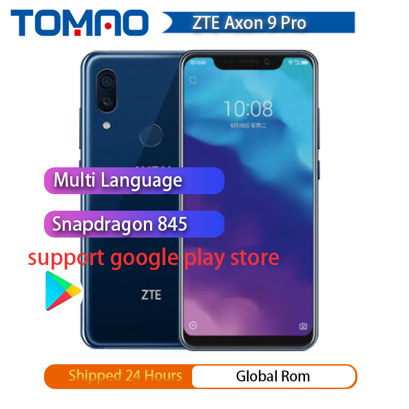 "2018 Original ZTE AXON 9 Pro 4G LTE IP68 กันน้ำ 6.21 ""8GB 256GB Snapdragon 845 Octa core NFC 4000mAh 20MP Hi Fi"