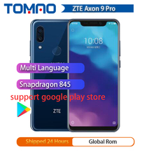 "2018 Original ZTE Axon 9 pro 4G LTE IP68 Waterproof 6.21"" 8GB 256GB Snapdragon 845 Octa core NFC 4000mAh Fingerprint 20MP Hi Fi"