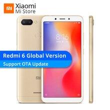 Küresel Sürüm Xiaomi Redmi 6 3 GB 32 GB Cep Telefonu Helio P22 Octa Çekirdek 12MP + 5MP Çift Kameralar 5.45